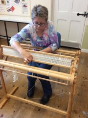 Double-width Weaving Demonstration - Nicki Grant (Fornham Hall) - Friday 16th August 2019-1