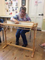 Double-width Weaving Demonstration - Nicki Grant (Fornham Hall) - Friday 16th August 2019-2