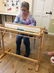 Double-width Weaving Demonstration - Nicki Grant (Fornham Hall) - Friday 16th August 2019-3