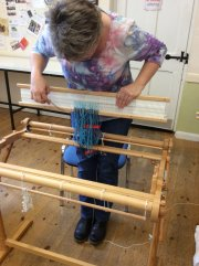 Double-width Weaving Demonstration - Nicki Grant (Fornham Hall) - Friday 16th August 2019-4