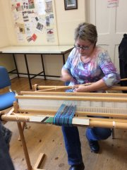 Double-width Weaving Demonstration - Nicki Grant (Fornham Hall) - Friday 16th August 2019-5
